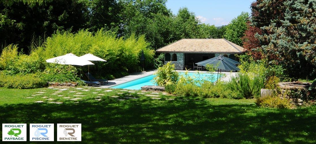 Roguet paysage piscine et spas paysagiste et piscinier for Entretien jardin 74