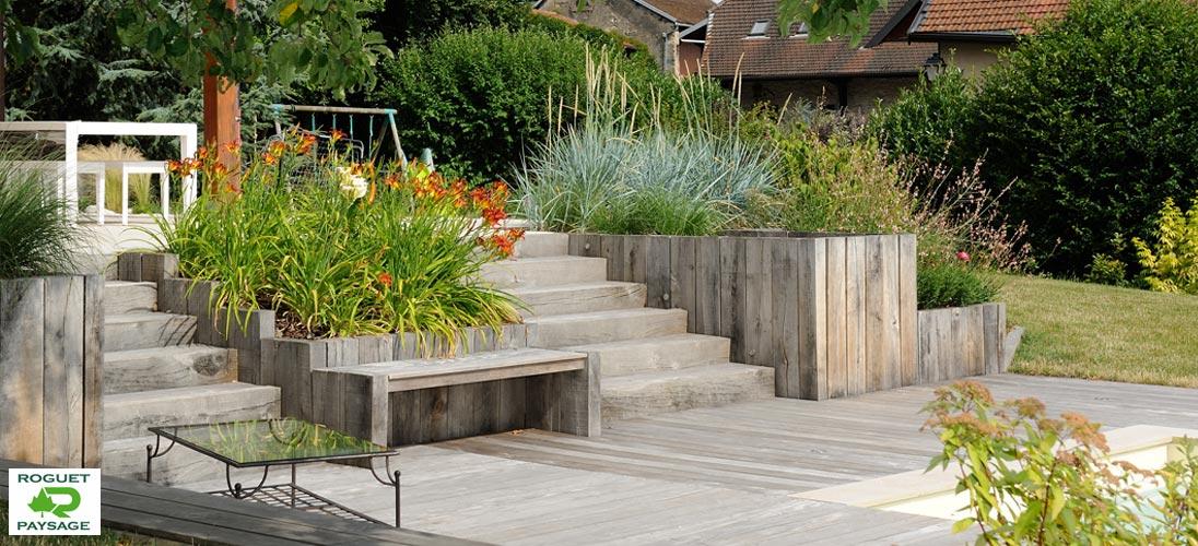 Roguet paysage piscine et spas paysagiste et piscinier for Amenagement jardin savoie