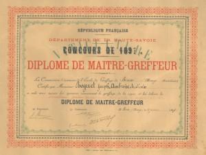 Joseph-Ambroise ROGUET - diplome-greffeur